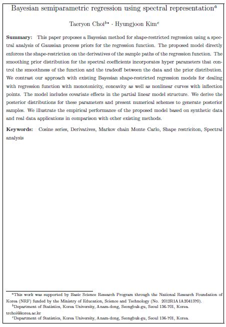essays on semiparametric bayesian regression Logistic regression,  model nonlinear regression nonparametric semiparametric robust quantile  deviations bayesian bayesian multivariate.